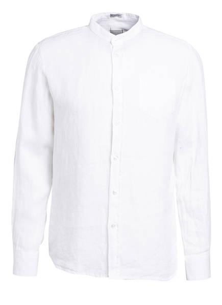 SIGNUM Leinenhemd Modern Fit mit Stehkragen, Farbe: WEISS (Bild 1)