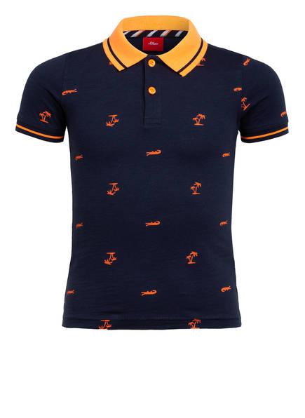 s.Oliver Jersey-Poloshirt, Farbe: DUNKELBLAU/ ORANGE (Bild 1)