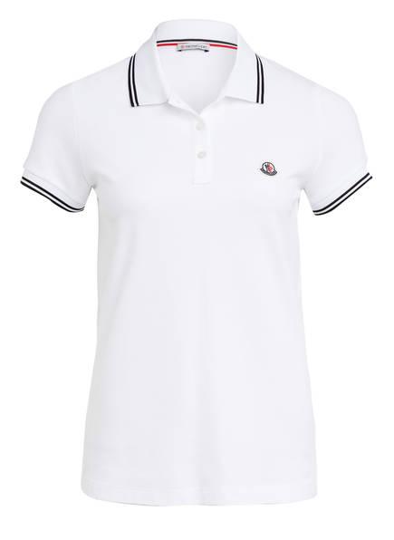 MONCLER Piqué-Poloshirt , Farbe: WEISS (Bild 1)