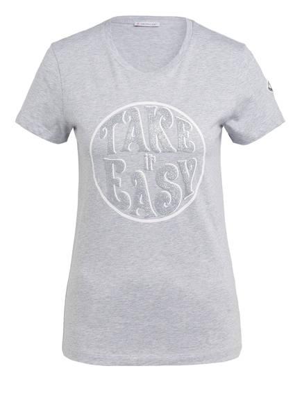 MONCLER T-Shirt, Farbe: GRAU MELIERT (Bild 1)