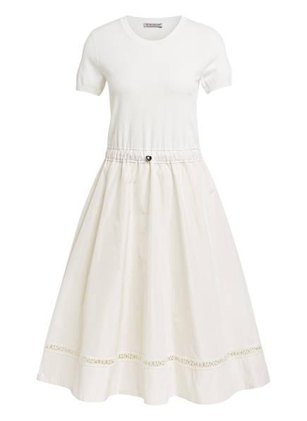 MONCLER Kleid im Materialmix, Farbe: ECRU (Bild 1)