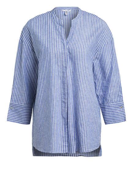 Sophie Oversized-Bluse OPPI mit Leinen, Farbe: BLAU/ WEISS (Bild 1)