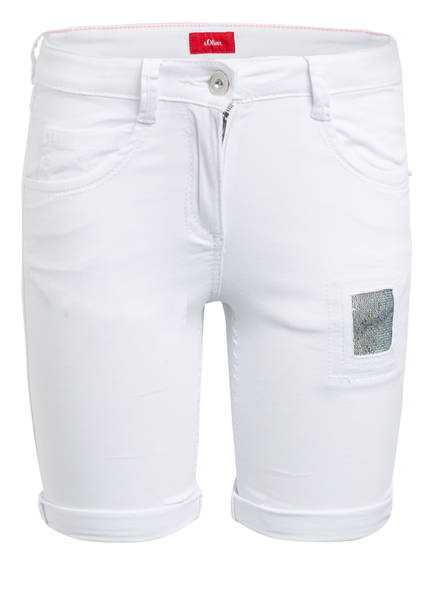 s.Oliver Jeans-Shorts, Farbe: WEISS (Bild 1)