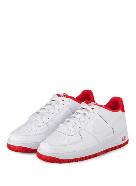 Nike Sneaker AIR FORCE 1, Farbe: WEISS/ ROT (Bild 1)