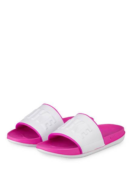 Nike Pantoletten OFFCOURT, Farbe: PINK/ WEISS (Bild 1)
