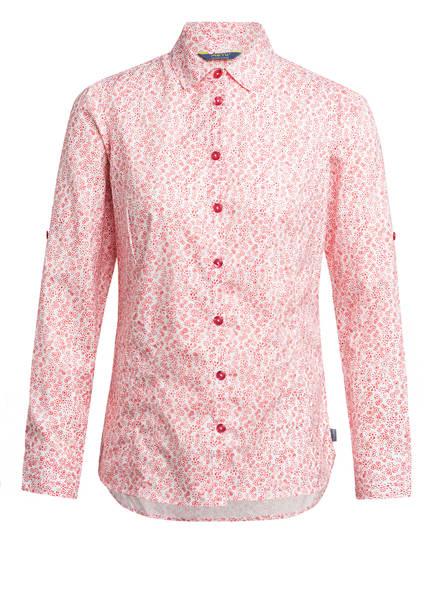 me°ru' Outdoor-Bluse PUEBLA, Farbe: WEISS/ ROT (Bild 1)