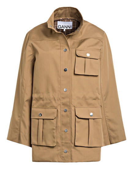 GANNI Fieldjacket, Farbe: CAMEL (Bild 1)