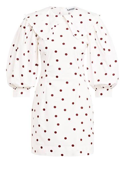 GANNI Kleid, Farbe: ECRU/ BRAUN (Bild 1)