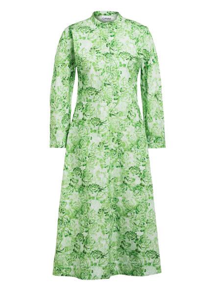 GANNI Kleid, Farbe: GRÜN/ WEISS (Bild 1)