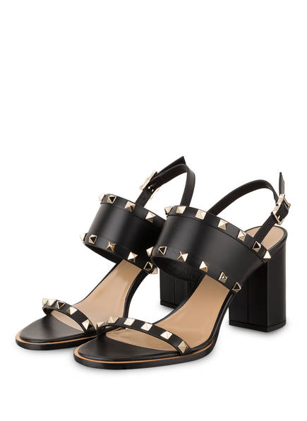 VALENTINO GARAVANI Sandaletten ROCKSTUD, Farbe: SCHWARZ (Bild 1)
