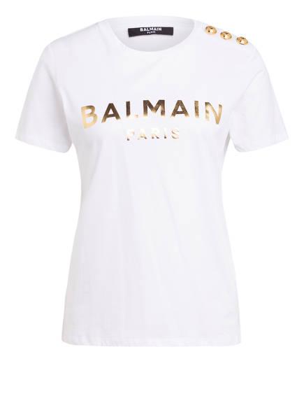 BALMAIN T-Shirt , Farbe: WEISS/ GOLD (Bild 1)
