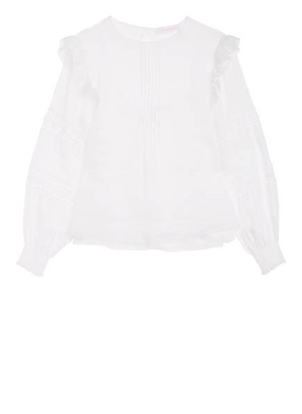 SEE BY CHLOÉ Bluse mit Lochspitzenbesatz, Farbe: WEISS (Bild 1)