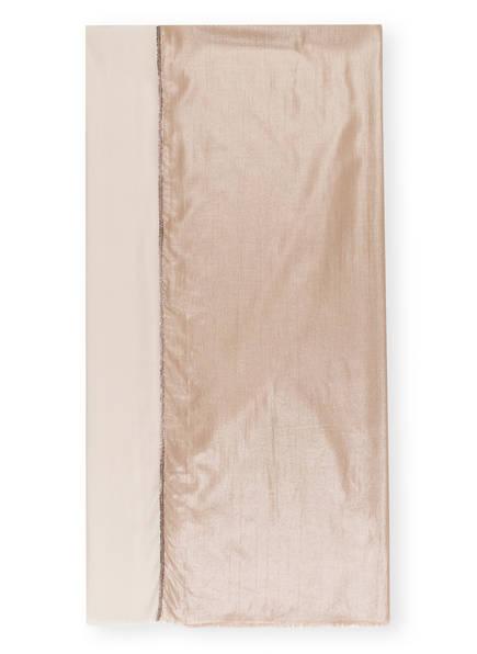 MARCCAIN Schal mit Seide und Glitzergarn, Farbe: 624 CLAY (Bild 1)