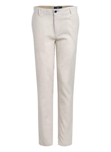 STROKESMAN'S Chino OSKAR Slim Fit mit Leinen, Farbe: CREME (Bild 1)