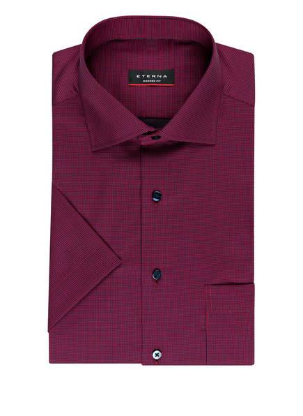 ETERNA Halbarm-Hemd Modern Fit, Farbe: ROT/ BLAU (Bild 1)