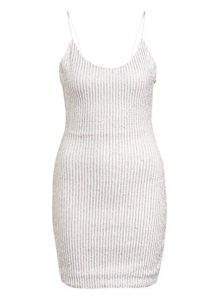alice+olivia Kleid NELLE mit Paillettenbesatz, Farbe: WEISS/ SILBER (Bild 1)