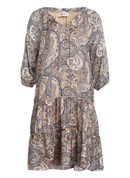 MOS MOSH Kleid TINKA mit 3/4-Arm mit Volants , Farbe: BLAU/ BEIGE (Bild 1)
