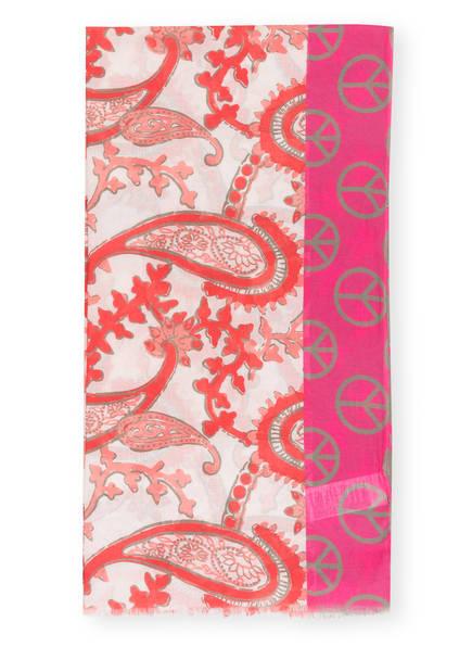 LIEBLINGSSTÜCK Schal MARION, Farbe: WEISS/ PINK/ HELLORANGE (Bild 1)