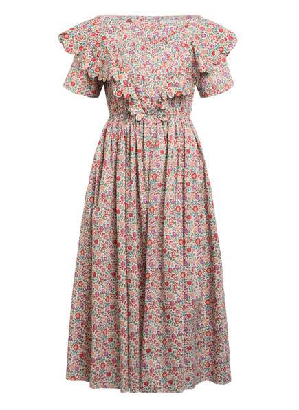 HORROR VACUI Kleid FLABELLA, Farbe: CREME/ ROT/ TÜRKIS (Bild 1)
