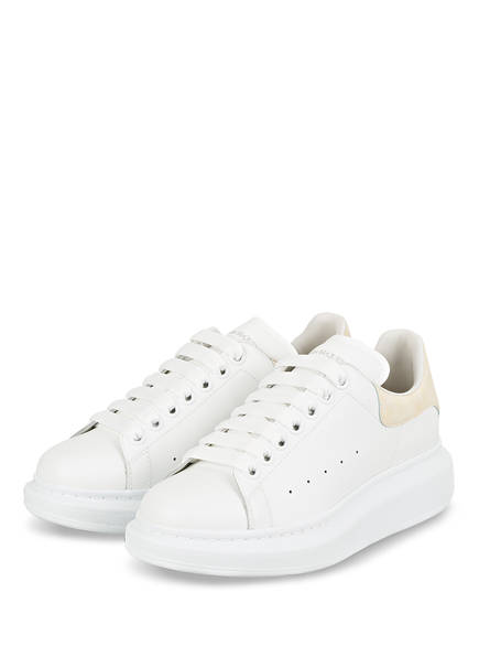 ALEXANDER McQUEEN Plateau-Sneaker, Farbe: WEISS/ CREME (Bild 1)