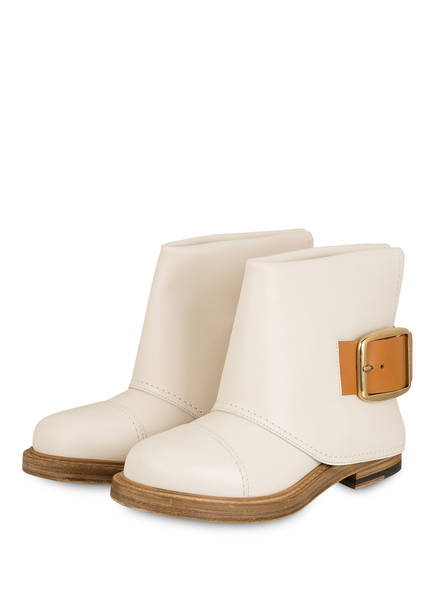 ALEXANDER McQUEEN Boots, Farbe: CREME/ BEIGE (Bild 1)