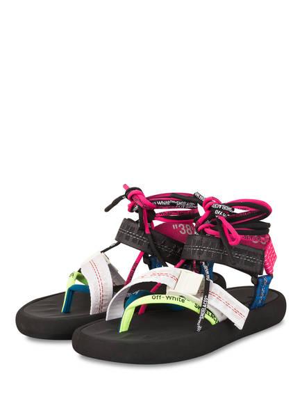 OFF-WHITE Sandalen, Farbe: SCHWARZ/ WEISS/ PINK (Bild 1)