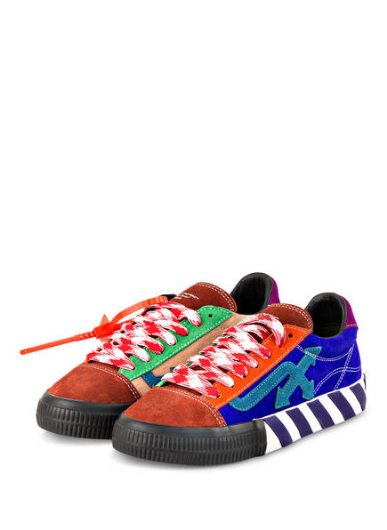 OFF-WHITE Sneaker LOW VULCANIZED, Farbe: DUNKELROT/ BLAU/ GRÜN (Bild 1)