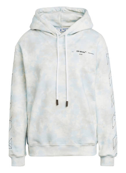 Off-White Oversized-Hoodie, Farbe: CREME/ HELLBLAU/ HELLBRAUN (Bild 1)