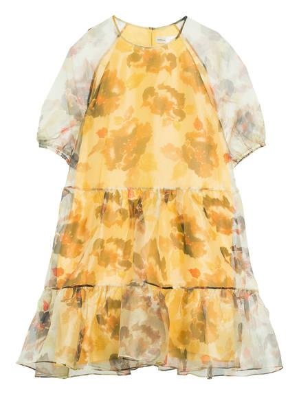 InWear Kleid IMANIL mit Volantsbesatz, Farbe: GELB/ BRAUN/ ORANGE (Bild 1)