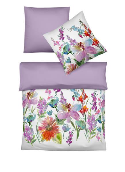 fleuresse Bettwäsche zum Wenden, Farbe: WEISS/ LILA/ TÜRKIS (Bild 1)