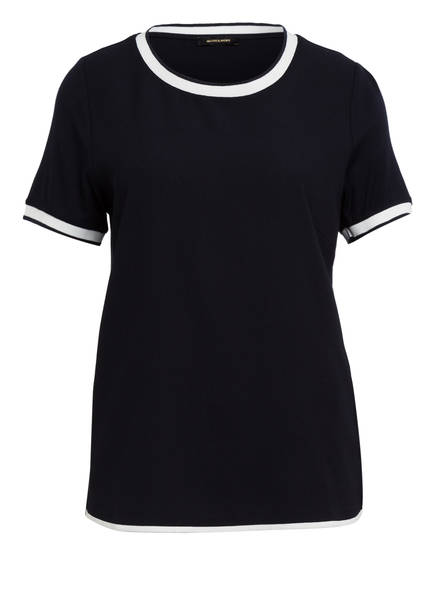 MORE & MORE T-Shirt im Materialmix, Farbe: DUNKELBLAU (Bild 1)