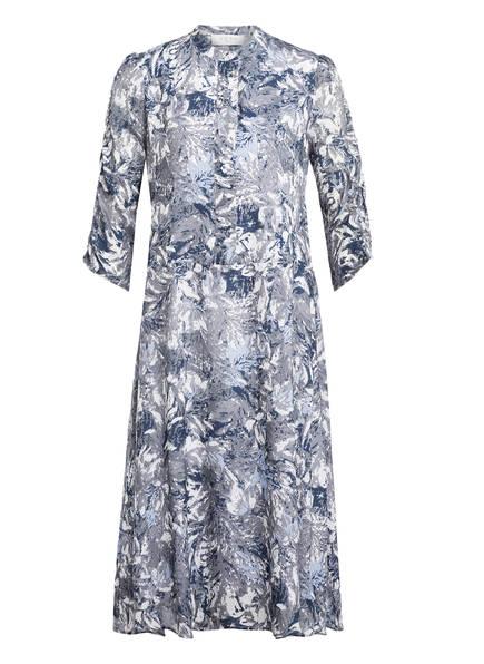 NORR Kleid ALICE mit 3/4-Arm, Farbe: GRAU/ ECRU/ LILA (Bild 1)