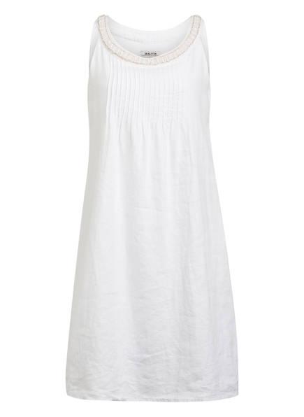 MALVIN Leinenkleid mit Perlenbesatz, Farbe: WEISS (Bild 1)