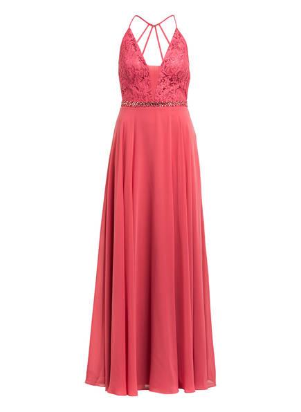 VM VERA MONT Abendkleid mit Spitzenbesatz , Farbe: HELLROT (Bild 1)