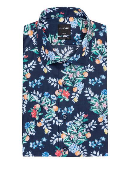 OLYMP Kurzarm-Hemd Luxor Modern Fit , Farbe: DUNKELBLAU/ GRÜN/ ORANGE (Bild 1)