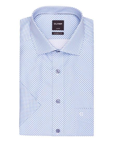 OLYMP Halbarm-Hemd Luxor modern fit , Farbe: WEISS/ HELLBLAU (Bild 1)