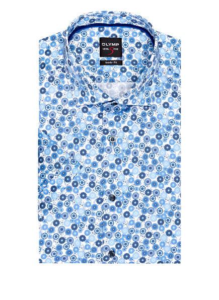 OLYMP Kurzarm-Hemd Level Five body fit , Farbe: BLAU/ WEISS (Bild 1)