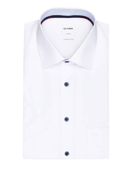 OLYMP Halbarm-Hemd Luxor comfort fit , Farbe: WEISS (Bild 1)