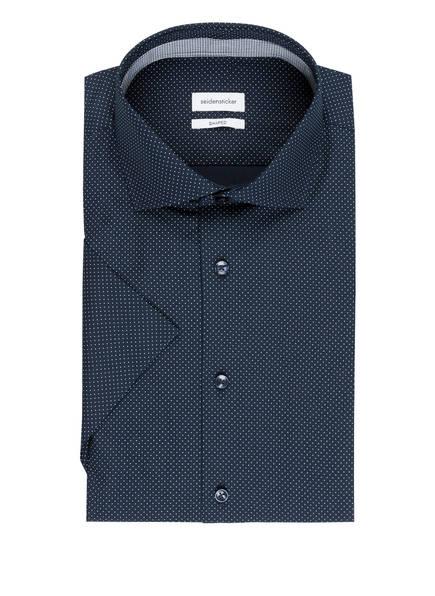 seidensticker Halbarm-Hemd Shaped Fit , Farbe: DUNKELBLAU/ WEISS GEPUNKTET (Bild 1)