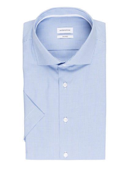 seidensticker Halbarm-Hemd Shaped Fit, Farbe: HELLBLAU/ WEISS KARIERT (Bild 1)