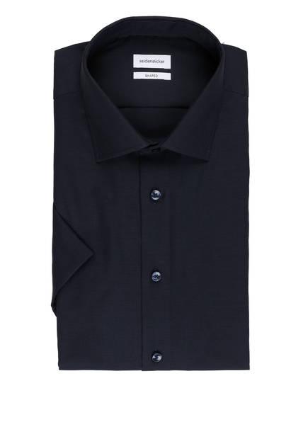 seidensticker Halbarm-Hemd Shaped Fit, Farbe: DUNKELBLAU (Bild 1)