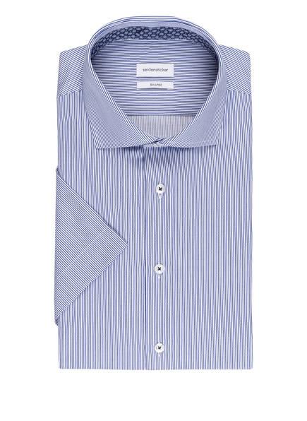 seidensticker Halbarm-Hemd Shaped Fit, Farbe: BLAU/ WEISS GESTREIFT (Bild 1)