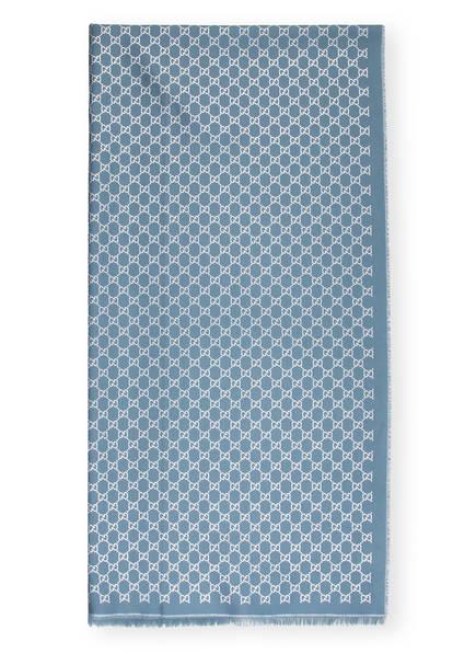 GUCCI Schal mit Glitzergarn, Farbe: BLAUGRAU/ SILBER (Bild 1)