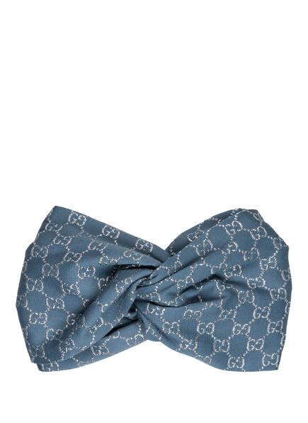 GUCCI Haarband, Farbe: BLAUGRAU/ SILBER (Bild 1)