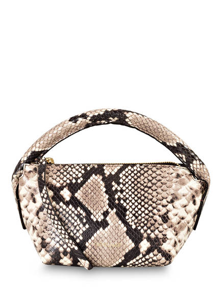 FRENZLAUER Handtasche PYTHON MINI, Farbe: SCHWARZ/ HELLTAUPE (Bild 1)