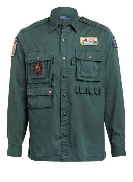 POLO RALPH LAUREN Overshirt, Farbe: DUNKELGRÜN (Bild 1)