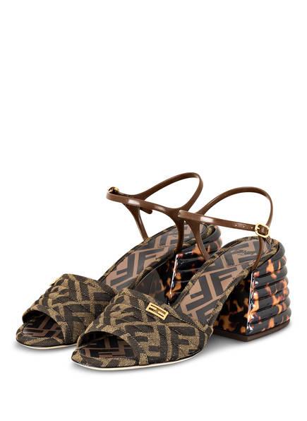 FENDI Sandaletten , Farbe: BRAUN/ BEIGE (Bild 1)
