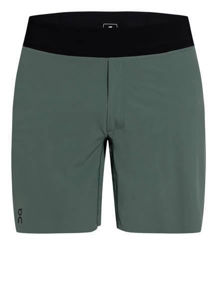 On Running Laufshorts mit Mesh-Einsatz, Farbe: OLIVE (Bild 1)
