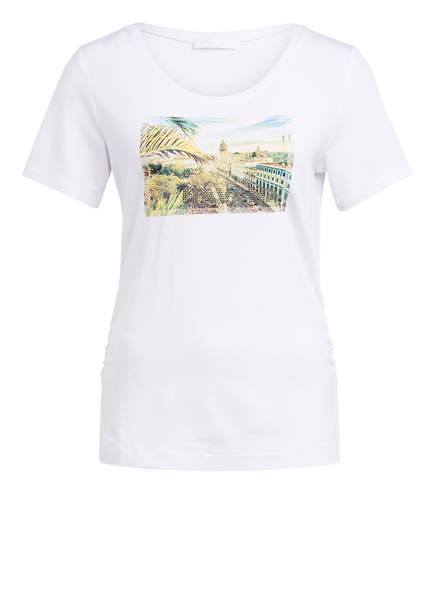 AIRFIELD T-Shirt mit Schmucksteinbesatz, Farbe: WEISS (Bild 1)