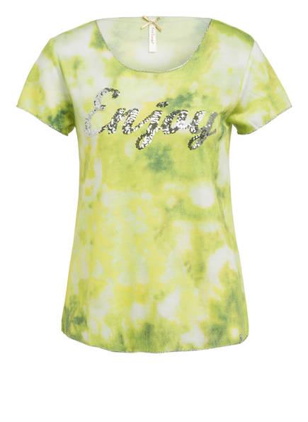 KEY LARGO T-Shirt mit Paillettenbesatz, Farbe: HELLGRÜN/ DUNKELGRÜN (Bild 1)